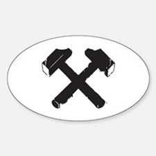 Crossed Hammers Decal