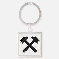 Crossed Hammers Keychains