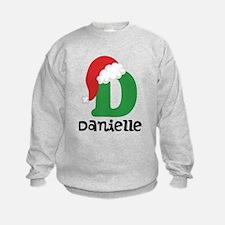 Christmas Santa Hat D Monogram Sweatshirt