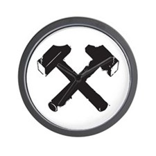 Crossed Hammers Wall Clock