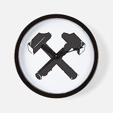 Crossed Hammers Wall Clock