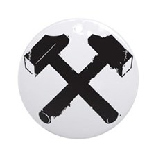 Crossed Hammers Ornament (Round)