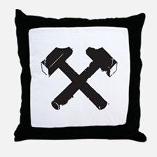 Crossed Hammers Throw Pillow