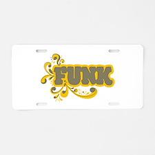 Funk Aluminum License Plate