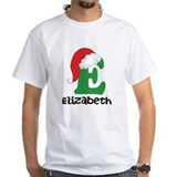 Christmas santa j monogram Mens Classic White T-Shirts
