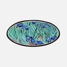 Iris, Vincent van Gogh. Vintage floral oil Patches
