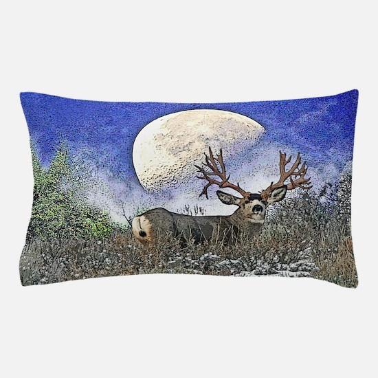 Trophy mule deer buck Pillow Case