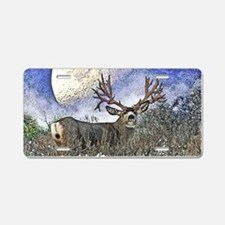Trophy mule deer buck Aluminum License Plate