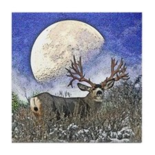 Trophy mule deer buck Tile Coaster