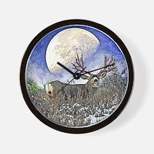Trophy mule deer buck Wall Clock