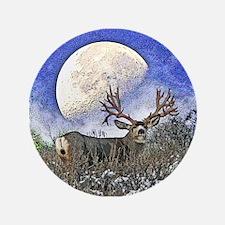 """Trophy mule deer buck 3.5"""" Button"""