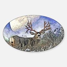 Trophy mule deer buck Sticker (Oval)