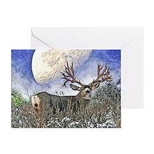 Trophy mule deer buck Greeting Card