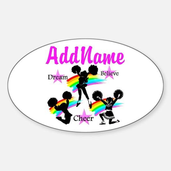 CHEERING GIRL Sticker (Oval)