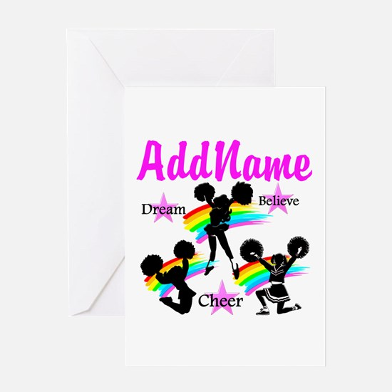 CHEERING GIRL Greeting Card