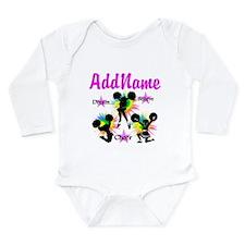 CHEERING GIRL Long Sleeve Infant Bodysuit
