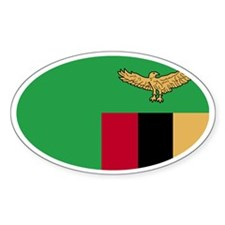 Zambian Flag Oval Decal