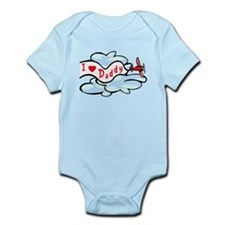 I Love Daddy Airplane Baby/Toddler bodysuit