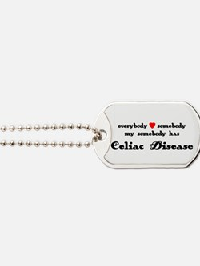 Everybody Loves Somebody Celiac Dog Tags