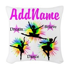 DANCER DREAMS Woven Throw Pillow