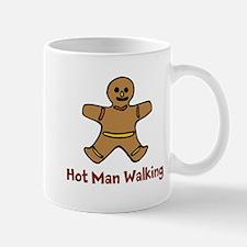 Hot Man Walking Mugs