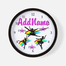 DANCER DREAMS Wall Clock