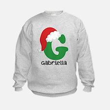 Christmas Santa Hat G Monogram Sweatshirt