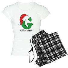 Christmas Santa Hat G Monogram Pajamas