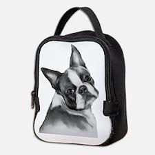 Boston Terrier Neoprene Lunch Bag