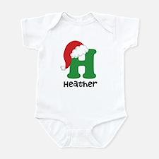 Christmas Santa Hat H Monogram Body Suit