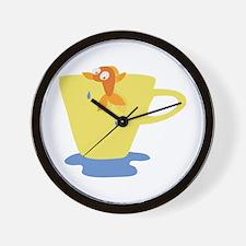 Fish Cup Wall Clock