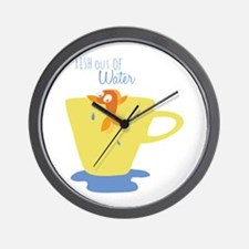Fish Out of Water Wall Clock