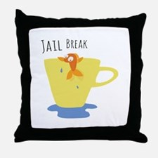 Jail Break Throw Pillow