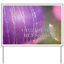 Christmas Blessings Yard Sign
