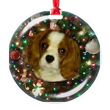 Sunny Blenheim Cavalier puppy Chris Ornament