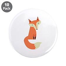 "Fox 3.5"" Button (10 pack)"