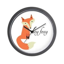 Hey Foxy Wall Clock