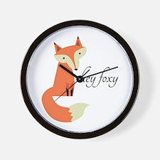 Hey Foxy Wall Clock