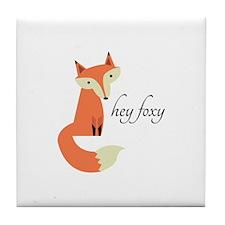 Hey Foxy Tile Coaster