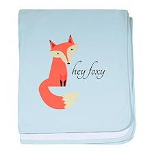 Hey Foxy baby blanket