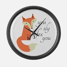 Sly Fox Large Wall Clock
