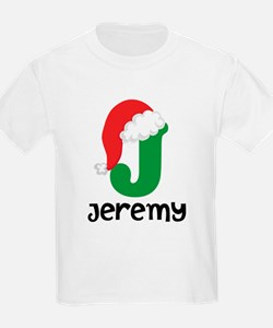 Christmas Santa Hat J Monogram T-Shirt