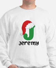Christmas Santa Hat J Monogram Sweatshirt