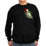 Ferret Santa Men's Sweatshirt (dark)