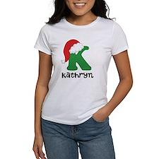 Christmas Santa Hat K Monogram T-Shirt