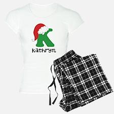Christmas Santa Hat K Monogram Pajamas