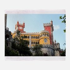 Pena Palace, Sintra, near Lisbon, Po Throw Blanket