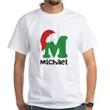 Christmas santa monogram Mens White T-shirts