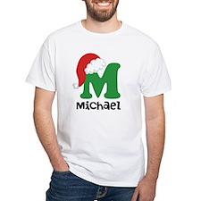 Christmas Santa Hat M Monogram T-Shirt