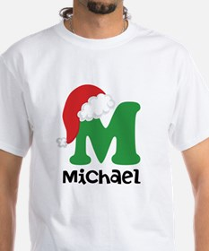 Christmas Santa Hat M Monogram T-Shirt